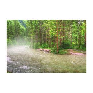 """El """"río brumoso"""" envolvió la impresión de la fotog"""
