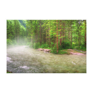 """El """"río brumoso"""" envolvió la impresión de la fotog impresion de lienzo"""