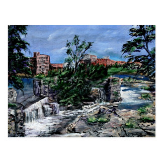 El río Chattahoochee Columbus GA y ciudad de Pheni Tarjetas Postales