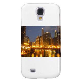 El río Chicago en la noche Funda Para Galaxy S4