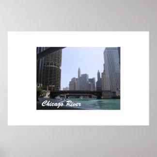 El río Chicago Poster