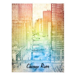 El río Chicago Tarjetas Postales
