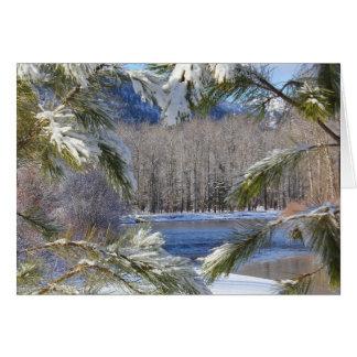 El río Clark Fork Tarjeta De Felicitación