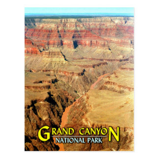 El río Colorado, parque nacional del Gran Cañón Tarjeta Postal