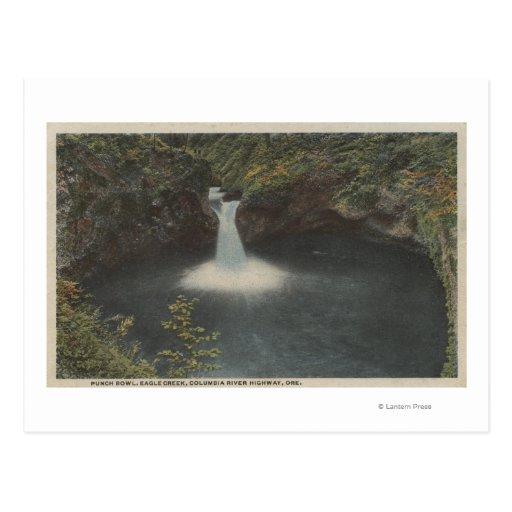 El río Columbia, Oregon - cuenco de sacador Postales