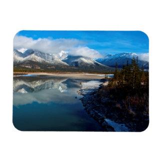 El río de Athabasca en parque nacional de jaspe Imanes De Vinilo