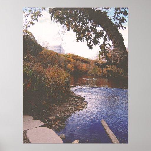 El río de Huron Póster