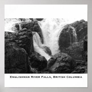 El río del inglés cae - isla de Vancouver, Inglés… Posters