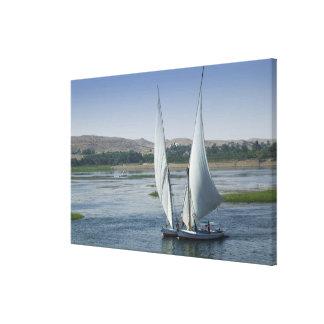 El río el Nilo y barcos de navegación usados como Impresión En Lona