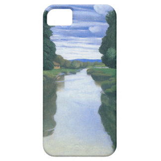 El río en Berville de Felix Vallotton iPhone 5 Carcasa