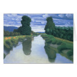 El río en Berville de Felix Vallotton Tarjeton