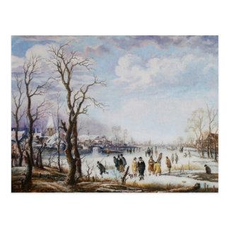 El río en postal del invierno