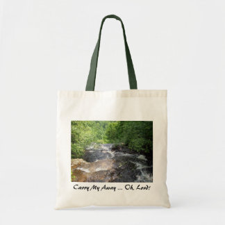 El río está fluyendo bolsa lienzo