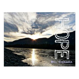 El río Fraser en Columbia Británica de la Tarjetas Postales