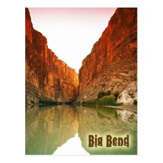 El Rio Grande, curva grande NP, Tejas Postal