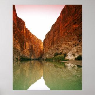 El Rio Grande, curva grande NP, Tejas Póster