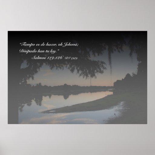 EL Río Hillsborough de la estafa de Salmos 119-126 Póster