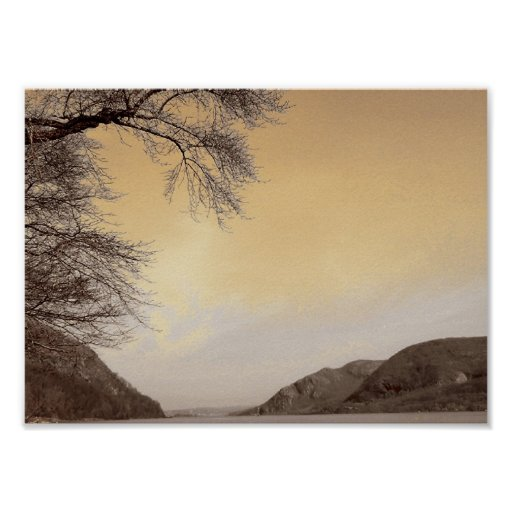 El río Hudson de West Point Póster