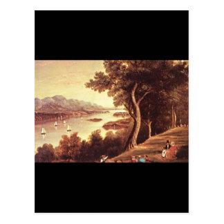 El río Hudson del siglo XIX Scene_Art de América Postal