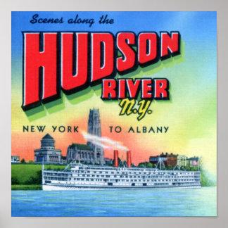 El río Hudson Nueva York a Albany Póster