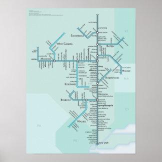 El río Hudson Posters
