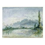 El río Isere en Grenoble, 1877 Postal