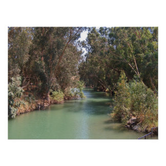 El río Jordán Póster
