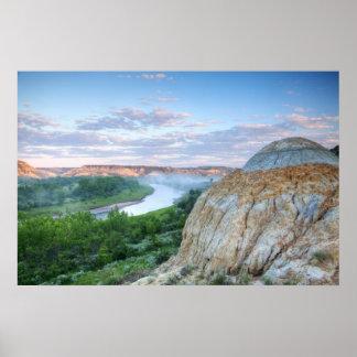 El río Little Missouri en el poco Poster