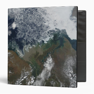 """El río Mackenzie vacia en la bahía de Mackenzie Carpeta 1 1/2"""""""