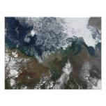 El río Mackenzie vacia en la bahía de Mackenzie Cojinete