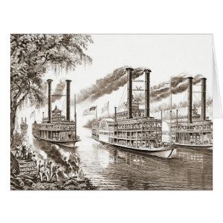 El río Misisipi defiende 1866 Tarjeta De Felicitación Grande