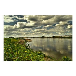 El río Missouri cerca de Sioux City, Iowa Foto