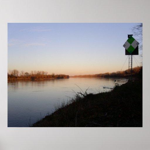 El río Missouri en el La Benite Impresiones