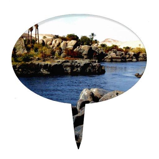 El río Nilo azul hermoso en la foto superior de Eg Figuras De Tarta