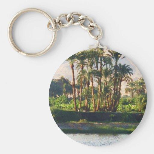 El río Nilo en Egipto, Luxor Llavero Personalizado