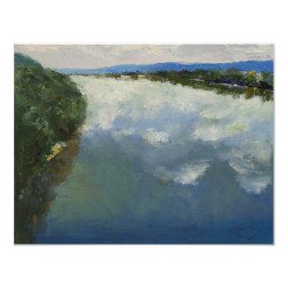 """El río Ohio Invitación 4.25"""" X 5.5"""""""