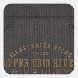 El río Ohio y valle superiores 11 Pegatina Cuadradas Personalizadas
