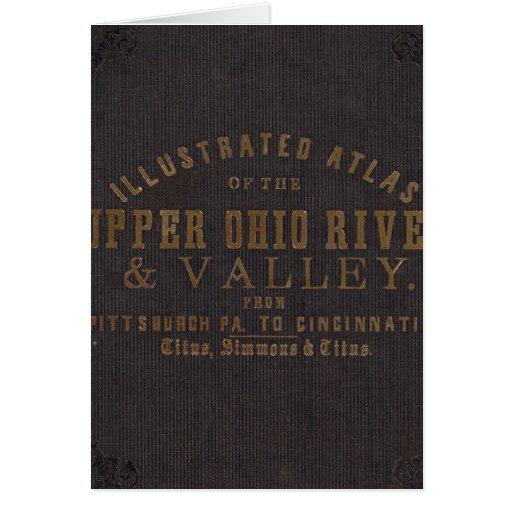 El río Ohio y valle superiores 11 Tarjeta De Felicitación