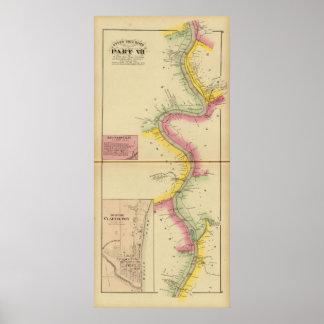 El río Ohio y valle superiores 3 Póster