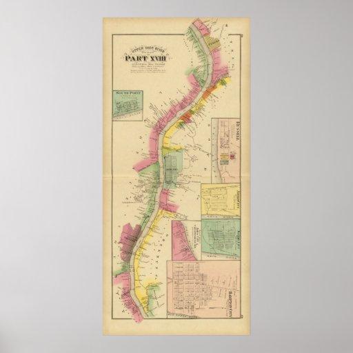 El río Ohio y valle superiores 6 Poster