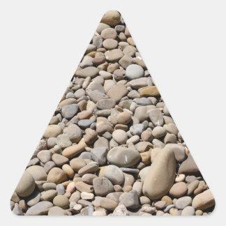El río oscila los guijarros calcomanías de trianguloes personalizadas