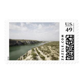 El río Rio Grande, Tejas, los E.E.U.U. Sello