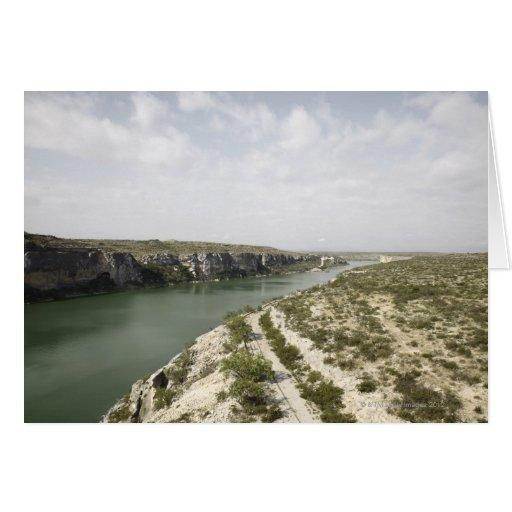 El río Rio Grande, Tejas, los E.E.U.U. Tarjeton