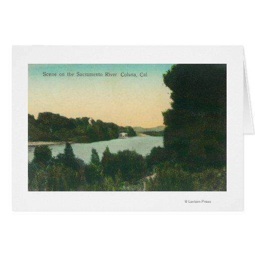 El río Sacramento SceneColusa, CA Felicitación