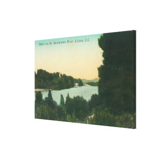 El río Sacramento SceneColusa, CA Impresiones De Lienzo