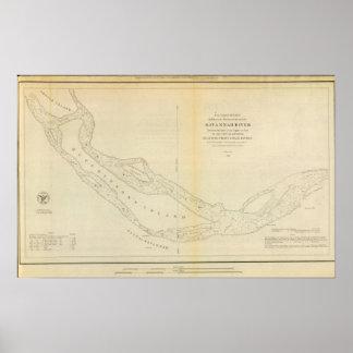 El río Savannah Póster