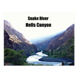 El río Snake, barranco de los infiernos Tarjetas Postales