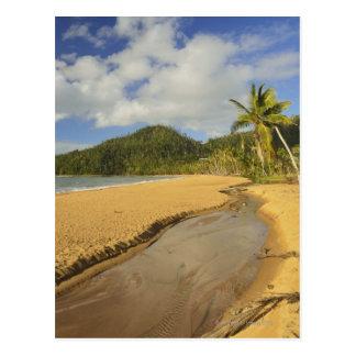 El río Tidal en la playa de la misión Tarjeta Postal