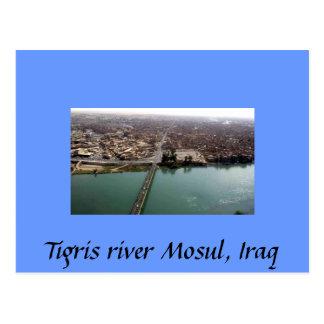 El río Tigris Mosul, Iraq Tarjetas Postales