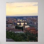 El río y el Ponte Vecchio de Arno en Florencia, Póster